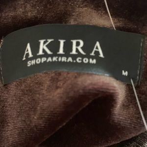 AKIRA Tops - Akira Mocha Velvet Crop Top
